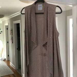Lysse laser cut cascading vest size SMALL
